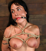 Roped, put on a big dildo, abused, vibed