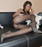 Cute girls wearing nylons
