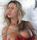 Czech beauty gets roped and fucked