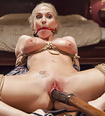 Cute wife gets tied spread and penetrated