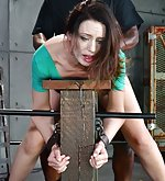Sarah restrained and used from both ends