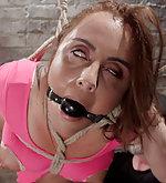Slut in brutal bondage and grueling punishment