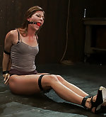 Strapped, spread helpless, pegged