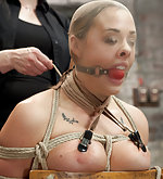 Roped to a chair, humiliatingly trained & teased