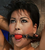 Roped, nipple clamped, made to cum hard
