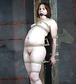 Undressed, roped, gagged, trained