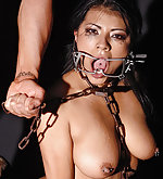 Hot latina gets bound & exploited in chains