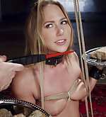 Beauty fucked in hard predicament bondage