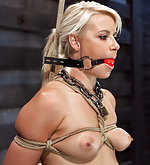 Slut fucked while suspended it tight bondage