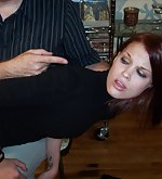 Kailee gets a very hard otk spanking