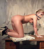 Sandy roped, ball-gagged, whipped, vibed