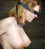 Stripped, roped, blindfolded, tits clasped, used