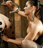 Tied, ass hooked and electrotortured