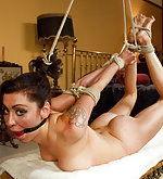 Manhandling, strict bondage, anal sex