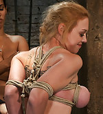 Hogtied, fisted, made to squirt and cum