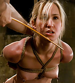 Nipple bondage and slut service