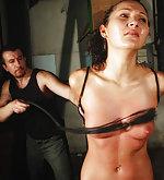 Isabell bondaged in bikiny for hard lashes
