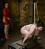 Lesbian bondage and strapon sex