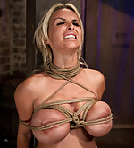 Busty blond milf gets roped and vibed