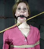 Cute lady gets roped, stripped and trained