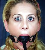 Blonde model roped, gagged, humiliatingly trained