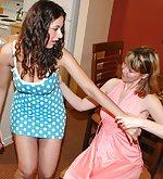 Two girls get otk barebottom sound spanking