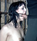 Hardly cuffed, tightly gagged, used