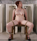 Chair bondage and big enema