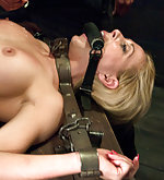 Workout girl taken down, bound and fucked