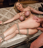 Married woman gets bondage anal sex