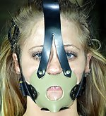 Blonde roped, clamped, gagged, didloed