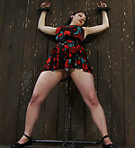 Girl next door cuffed, chained, clamped