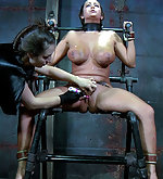 Cuffed, hogtied and completely degraded