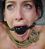 Brunette slave gets intense bondage therapy