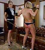Servant girl roped and fucked by lesbian