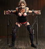 Lusty whore in extreme immobilizing bondage