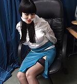 Pretty secretaries in tasteful bondage