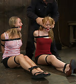 Two slavegirls strapped, fixed and trained