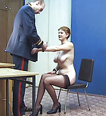 Secretary gets punished humiliatingly