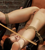 Tied in very humiliating position and vibed