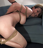 Mature brunette gets roped and vibed