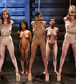 Seven slavegirls tested in extreme bondage