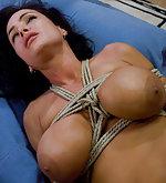 Lisa in her first bondage hardcore sex