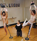 Two ballerina girls dominated and fucked