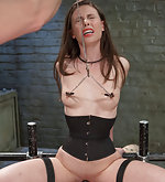Gorgeous slave girl strapped, licked, anal trained