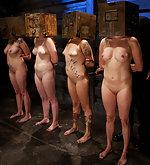Four sluts in humiliating training session