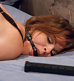 Captured and ass fucked in bondage