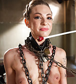 Slut chained, strapped, trained to fuck better
