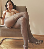 Anastasija takes on some exclusive pantyhose