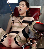 Strapped down, fucked hard in tight bondage